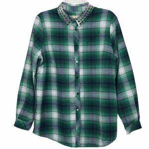 Sheryl Crow Green Plaid Shirt Size Medium